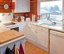 Kitchen with all mod cons and views down the valley