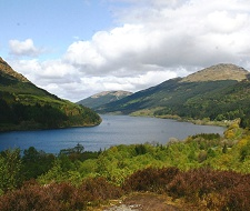 Loch Eck - a classic glacial freshwater loch. Fabulous views from the trails on the hillside of the county�s most beautiful lochs. About 10 minutes from Feorag Lodge